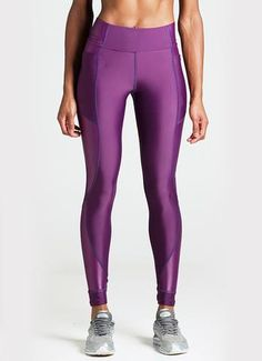 Looking for the perfect running tight? Look no further! Tennis Uniforms, Running Tights, Workout Leggings, Yoga Fitness, Athletic, Purple, Pants, Collection, Women