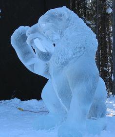 Ice Art, Tiger, Fairbanks, AK