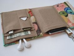 Nerd Herder gadget wallet in Paper Parasol iPod Droid by rockitbot,