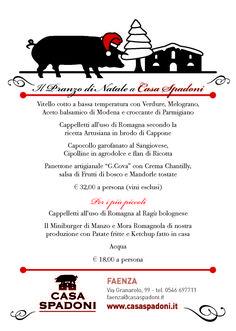 I MENU DI NATALE 2017 DI CASA SPADONI | Casa Spadoni