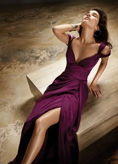 Merlot Chiffon gown from jlm couture