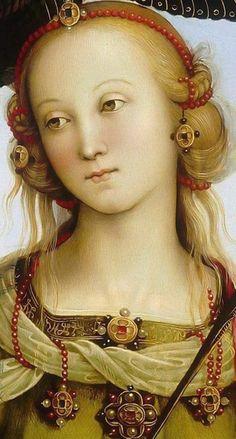 Il Perugino Vierge et l'enfant avec deux anges Ste Rose et Ste Catherine d'Alexandrie