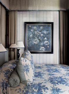 Vergelegen Estate South Africa  Simply exquisite interior design today from John Jacob featuring our Aurora fabric, blue and grey.