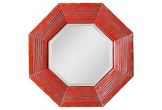 Metal Framed Beveled Mirror on OneKingsLane.com