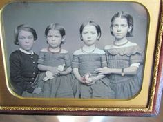 1 brother & 3 sisters with one holding a doll 1/4 plate daguerreotype photograph | eBay Daguerreotype, Brother, Sisters, Photograph, Plates, Dolls, Children, Ebay, Photography