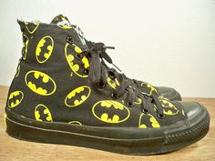 Vintage CONVERSE Batman High Top Shoes Sneakers Men's Kicks MADE IN USA