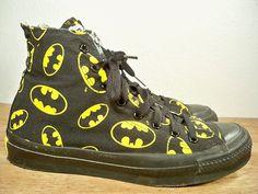 e2889402a376 Vintage CONVERSE Batman High Top Shoes Sneakers Men s Kicks MADE IN USA Dr  Martens Stiefel