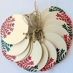 Christmas linocut/ letterpress decoration by rubyvictoria on Etsy, $19.50