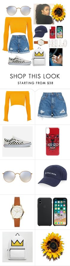 """""""Untitled #186"""" by jada-copeland on Polyvore featuring River Island, Nobody Denim, Vans, Kenzo, Ray-Ban, Balenciaga and Graham & Brown"""