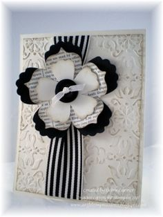 flower card Black and white