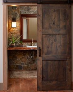 rustic Bathroom Decor Find more ideas: Home Kitchen Improvement Decor Ideas Home Bathroom Flooring Improvement Home Bedroom Painting Improvement DIY Home Living Room Improvement Garage Home Hacks Improvement Tips Rustic Bathroom Designs, Rustic Home Design, Rustic Decor, Farmhouse Decor, Rustic Homes, Small Rustic Bathrooms, Rustic Wood, Farmhouse Style, Rustic Office Decor