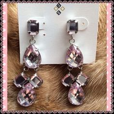 """❤️SALE!!! FACETED STONE EARRINGS❤️ THEY """"TAKE ON"""" THE COLORS THAT SURROUND THEM...MULTIPLE SHAPES..GORGEOUS COSTUME JEWELRY EARRINGS!!!...NO TRADES...NO PAYPAL!!! Jewelry Earrings"""