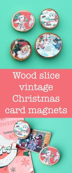 These Christmas card magnets are SO easy to make and are a perfect gift idea! Use your own cards or the free printable included. via /modpodgerocks/
