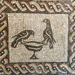 A simpler version of the classic Byzantine image. This one in the Palazzo Massimo Museum, Rome. www.helenmilesmosaics.org
