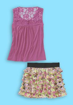 Susie Rose delivers a ruffled look for $23.   Outfit made with the #Walmart Back to School Closet Creator.  Check it out and make your own at http://www.walmart.com/backtoschoolcloset
