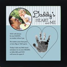 Daddy Handprint Frame: Heart and Me