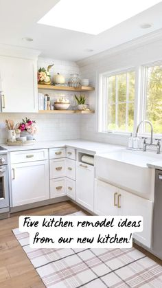Kitchen Room Design, Kitchen Redo, Home Decor Kitchen, Kitchen Interior, Home Kitchens, White Kitchen Designs, Diy Kitchen Makeover, Diy Kitchen Ideas, Small Cabin Kitchens