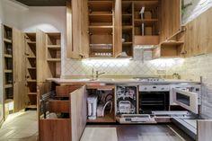 системы хранения в кухонном гарнитуре