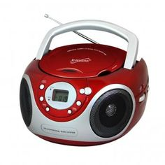 Supersonic SC-507MP3 Portable MP3/CD Player with AM/FM Radio- Red