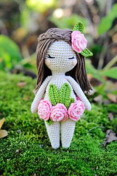 Crochet amigurumi forest nymph fairy doll pattern by yorbashideout