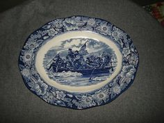 Vintage Liberty Blue Staffordshire by PastPossessionsOnly on Etsy, $39.95