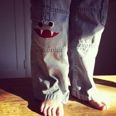 Monster patch!  This is SEW fantastic!  I'm totally doing this when he gets a rip in his pants!