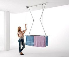 Étendoir de plafond Foxydry Mini 150, séchoir vertical repliable
