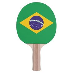 Brazil flag Brazilian ping pong bat