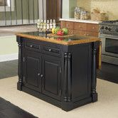 Found it at Wayfair - Home Styles Monarch Kitchen Island with Granite Top
