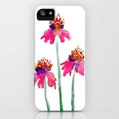 Watercolor Echinacea iphone case