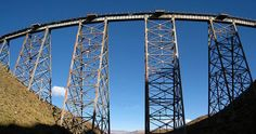 La Polvorilla Viaduct,  train journey, el Tren a las Nubes (Train to the Clouds), which ascends the Quebrada del Toro and climbs up to the puna (plateau). The climax of the trip is the crossing of the la Polvorilla viaduct