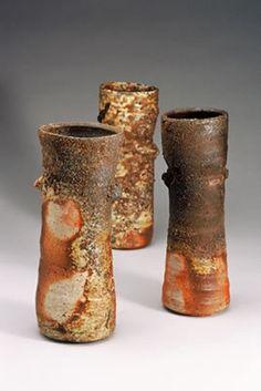 Terracotta pots fired by Janet Mansfield