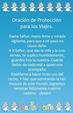 oracion para el viaje. Prayer for when we travel