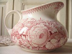 verres orangeade anciens en verre moul rose cuisine. Black Bedroom Furniture Sets. Home Design Ideas