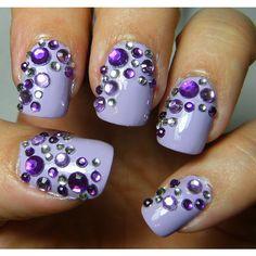 Deez Nailz Plug Yourself Sunday and purple fantasy nails ❤ liked on Polyvore