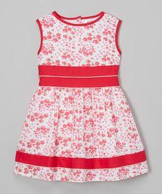 Love this Pink Floral A-Line Dress - Infant, Toddler & Girls on #zulily! #zulilyfinds
