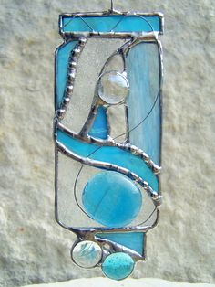Abstract Stained Glass Suncatcher One of a Kind. $20.00, via Etsy.