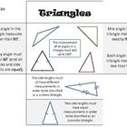 This foldable can be pasted inside your students' math notebooks or slid inside of a math folder. Easy way to introduce/review the various triangle...