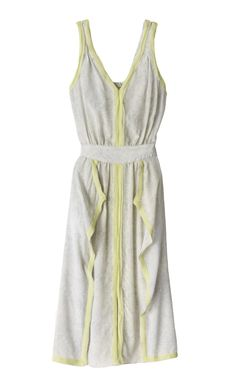 """this light gray with bright yellow """"pop"""" is in for Spring and the dress is adorable"""