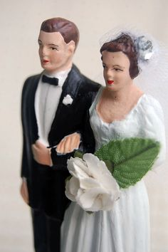 Chalkware Wedding Toppers