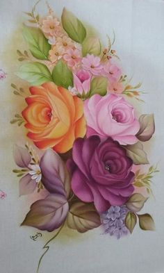 Beautiful Flowers Wallpapers, Beautiful Roses, Flower Frame, Flower Art, Fabric Paint Designs, Color Magic, Quilling Designs, Arte Floral, Easy Paintings