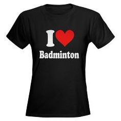 I Heart Badminton: Women's Dark T-Shirt