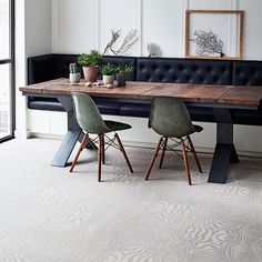 Image 1 of 4: The level of detail that is now  possible in weaving means that modern carpets can  have fantastically intricate designs. Brintons' latest collaboration with Timorous Beasties is a great example – this 'Platinum Grain du Bois' carpet is inspired by wood grain. £95 per square metre (brintons.co.uk)