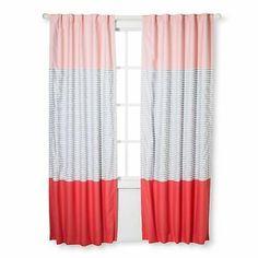Size: 84 White Machine Washable Cloud Island Blackout Curtain Panel Geo Bright