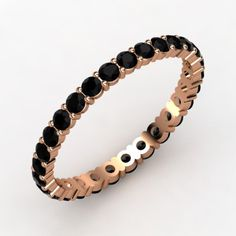 14K Rose Gold Ring with Black Onyx | Rich