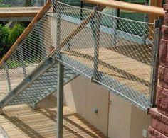 Stainless steel mesh balustrade infill