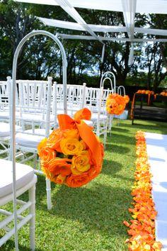 #Bodas Flores para ceremonia Quinta Pavo Real del Rincón http://www.pavorealdelrincon.com.mx/
