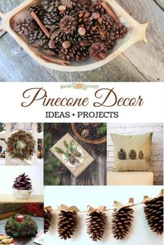 Collecting pinecones is easy. Deciding on what you're going to make with those festive conifer seed pods, well, that's a little bit more difficult because there are so many ideas to choose from! How to make DIY pinecone, wreaths, garland, ornaments, fire starters, and more in this guide. #Sponsored