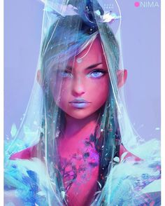 "18.1k Likes, 82 Comments - Ross Tran (@rossdraws) on Instagram: ""Celestial Nima! Personal illustration of my character I just finished and recorded the video demo…"""