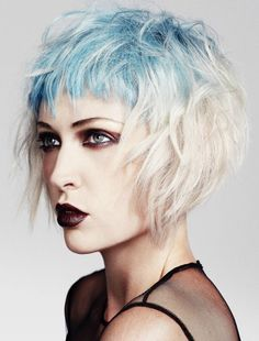 If I ever decide to dye my hair, this is what i want...or something similar. Maybe bolder & more blue. Go big! Chic Medium Haircuts 2013 For Women Hairstyles Trendiest  Great